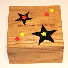Star Keepsake Box Engraved